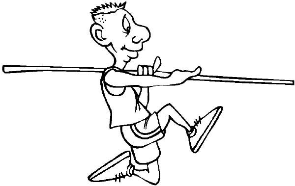Olympic Games, : Olympic Games Javelin Coloring Page