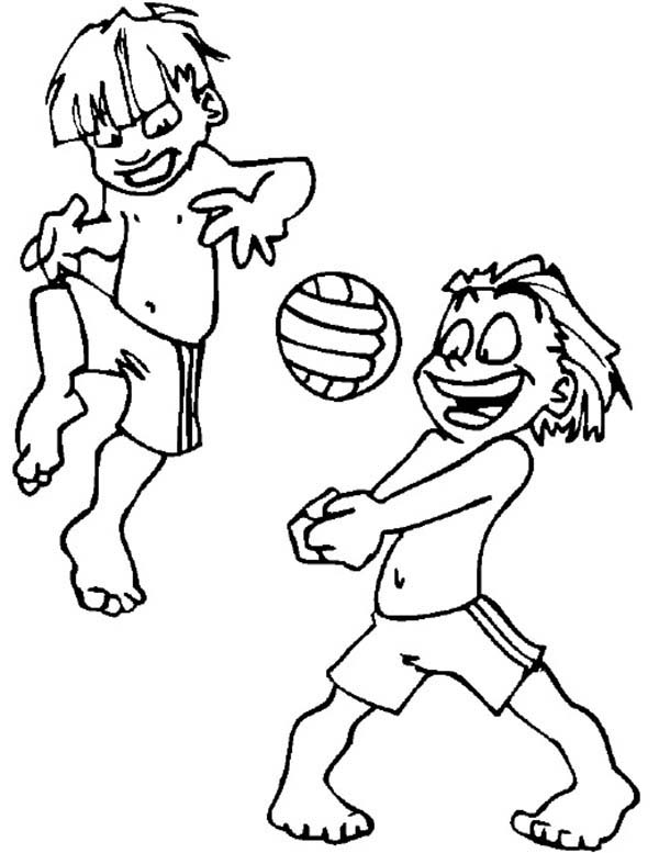 Olympic Games, : Olympic Games Volley Ball Coloring Page