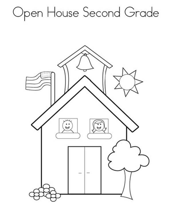School open house coloring pages coloring pages for Open house coloring pages