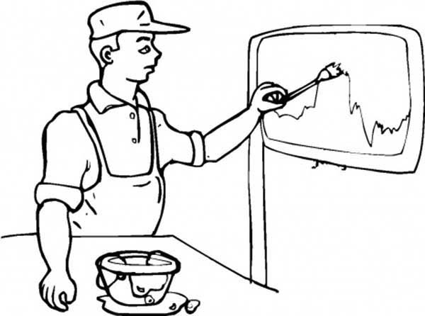 Paint, : Paint Worker Coloring Page