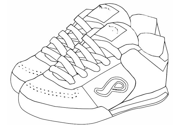 Shoes, : Pair of Shoes Coloring Page