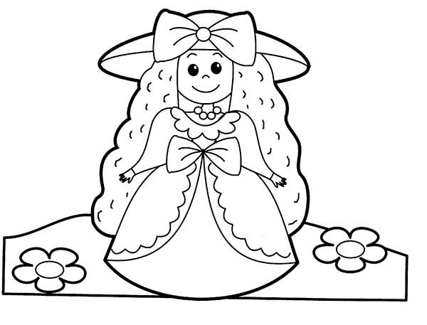 People, : People Beautiful Princess Coloring Page