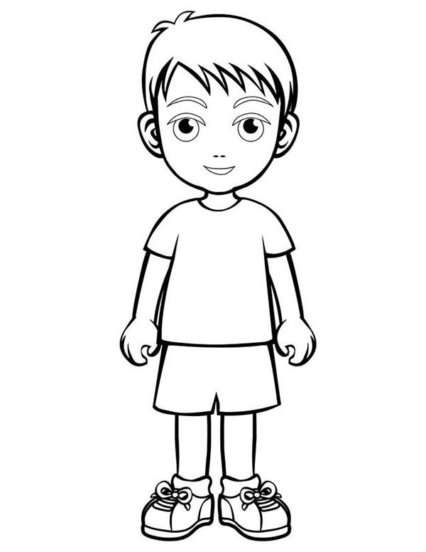 People, : People Children Coloring Page