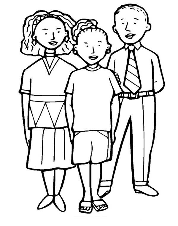 People, : People Family Coloring Page
