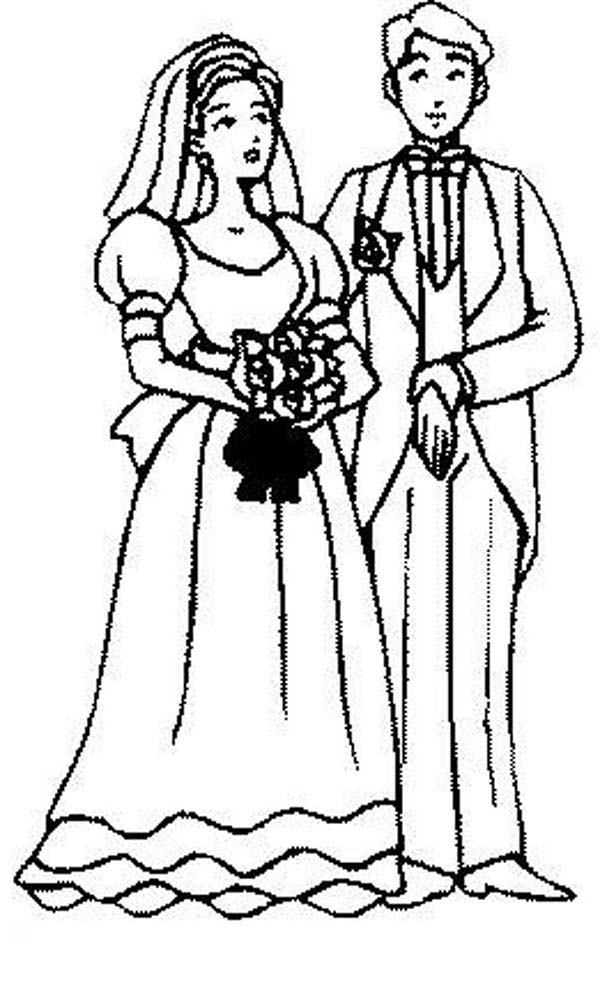 People Get Married Coloring Page Coloring Sky
