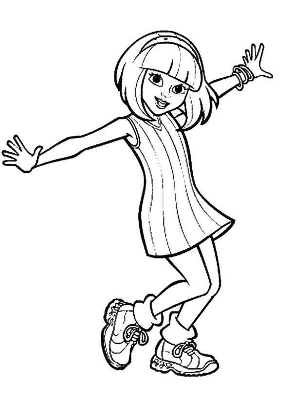 People, : People Love to Dance Coloring Page