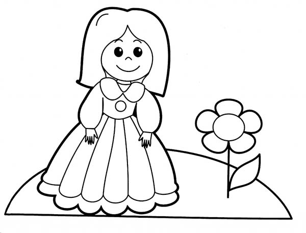 People, : People Love to Plant a Flower Coloring Page