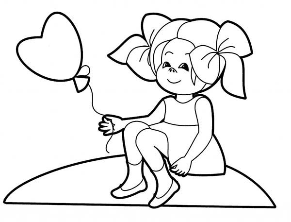 People, : People Waiting for Her Love Coloring Page