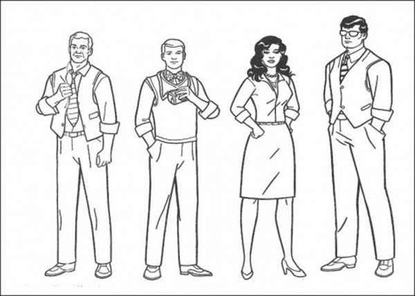 People, : People is Social Person Coloring Page