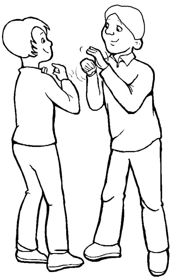 asl coloring pages - photo#33