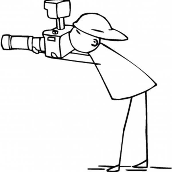 Photography, : Photography Activity Taking Pictures Coloring Page