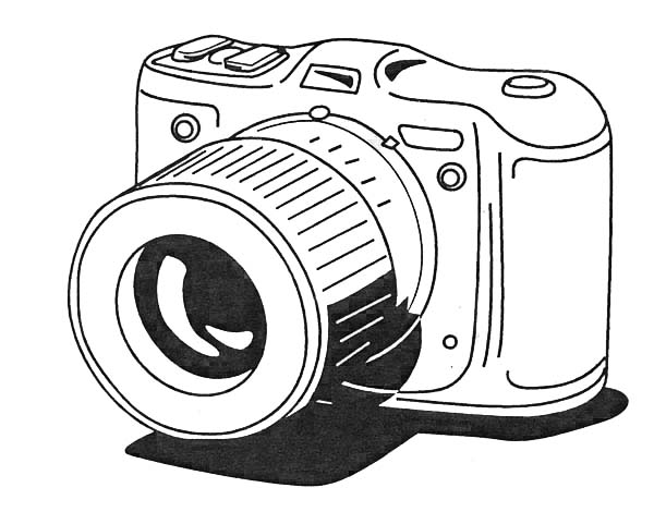 Photography, : Photography Lesson Coloring Page