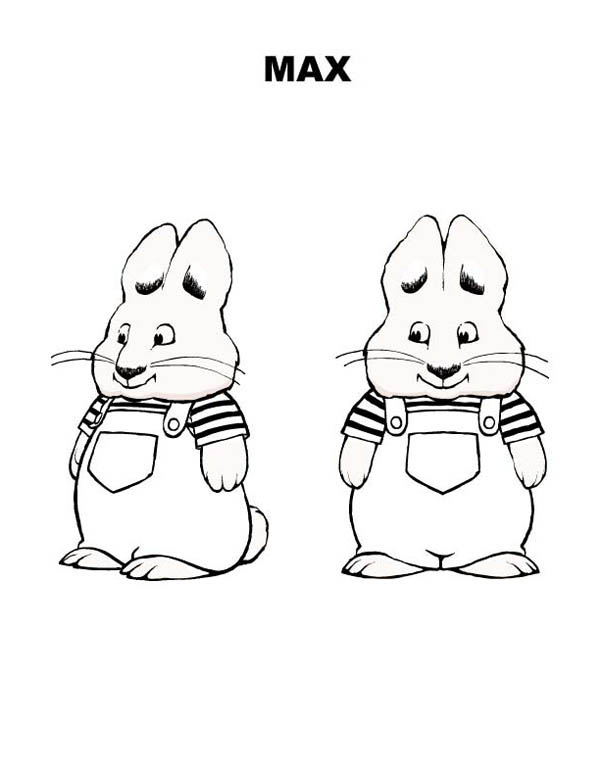 Max & Ruby, : Picture of Max Bunny in Max and Ruby Coloring Page