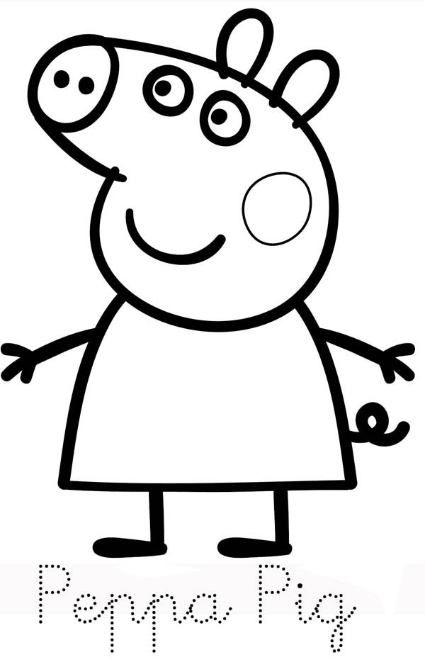 Peppa Pig, : Picture of Peppa Pig Coloring Page