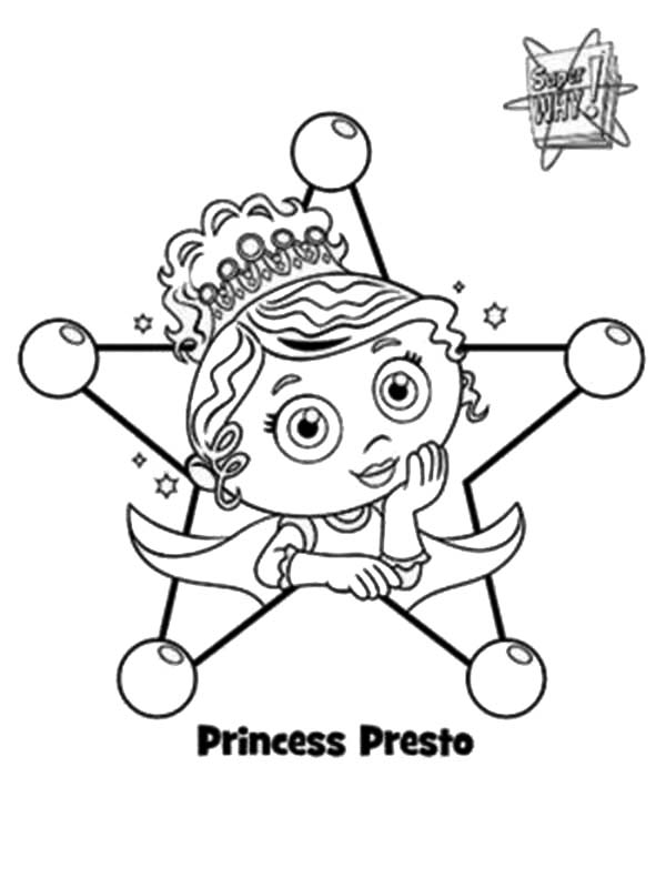 Superwhy, : Picture of Princess Presto from Superwhy Coloring Page