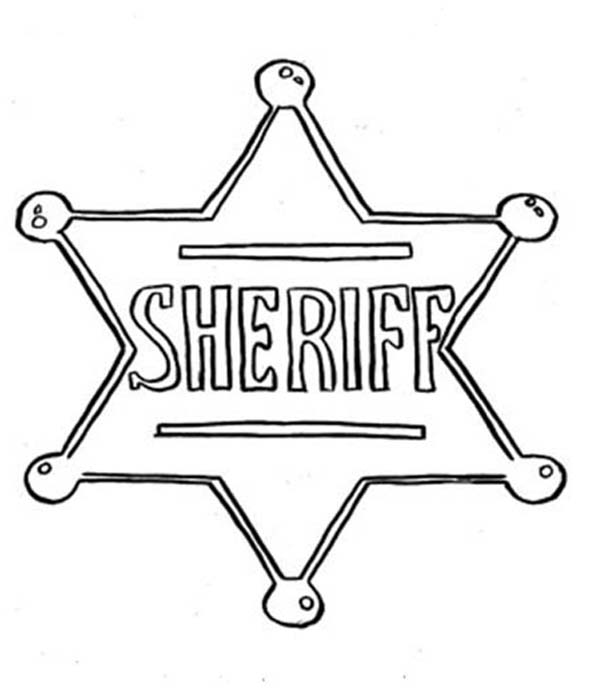 Picture Of Sheriff Badge Coloring Page Coloring Sky