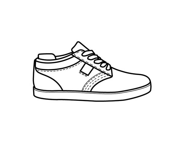 Shoes, : Picture of Shoes Coloring Page