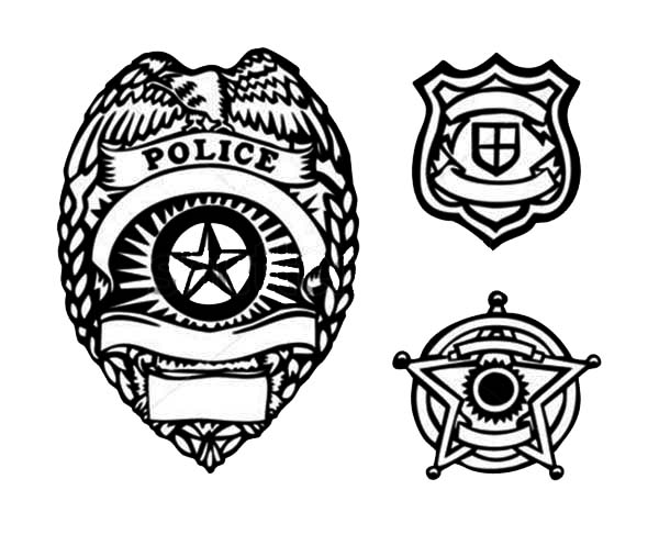 Picture Of Type Police Badge Coloring Page Coloring Sky