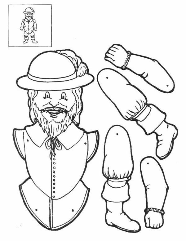 Puppet, : Pilgrimman Puppet Part Coloring Page