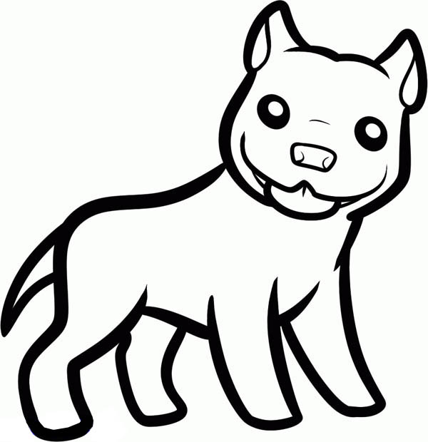 Pitbull, : Pitbull Freaky Smile Coloring Page