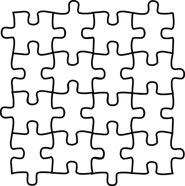 Puzzles, : Preschool Kids Learning Tools Puzzles Coloring Page