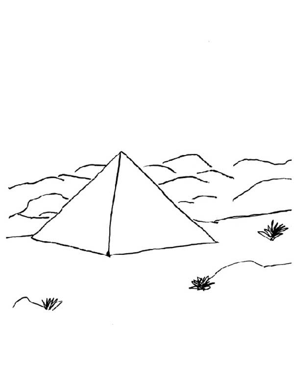 Pyramid, : Pyramid Located in Egypt Coloring Page