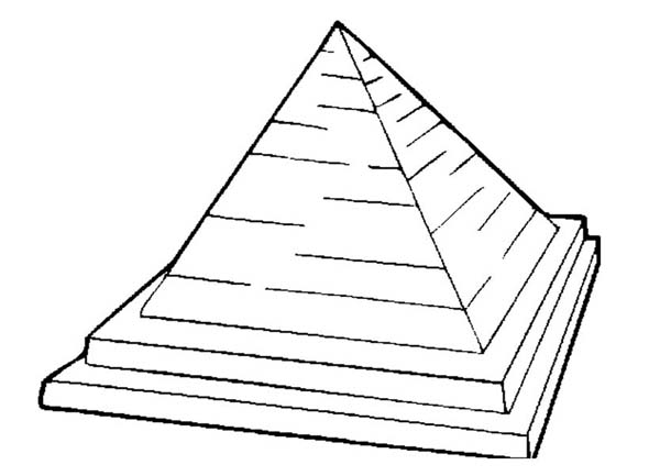 Pyramid, : Pyramid of Khufu Coloring Page