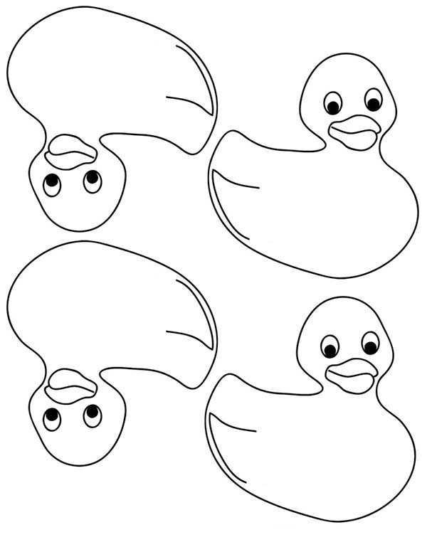 Rubber Ducky Coloring Page for Kids | Coloring Sky
