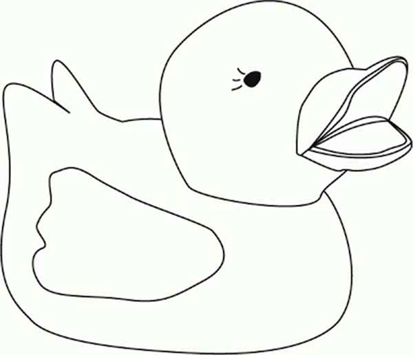Rubber Ducky, : Rubber Ducky Crying for Her Mother Coloring Page