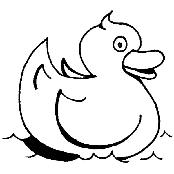 Rubber Ducky, : Rubber Ducky Swimming Coloring Page