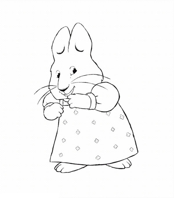Max & Ruby, : Ruby Giggling in Max and Ruby Coloring Page