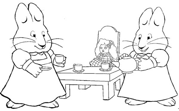 Max And Ruby Color Sheets | Coloring Pages