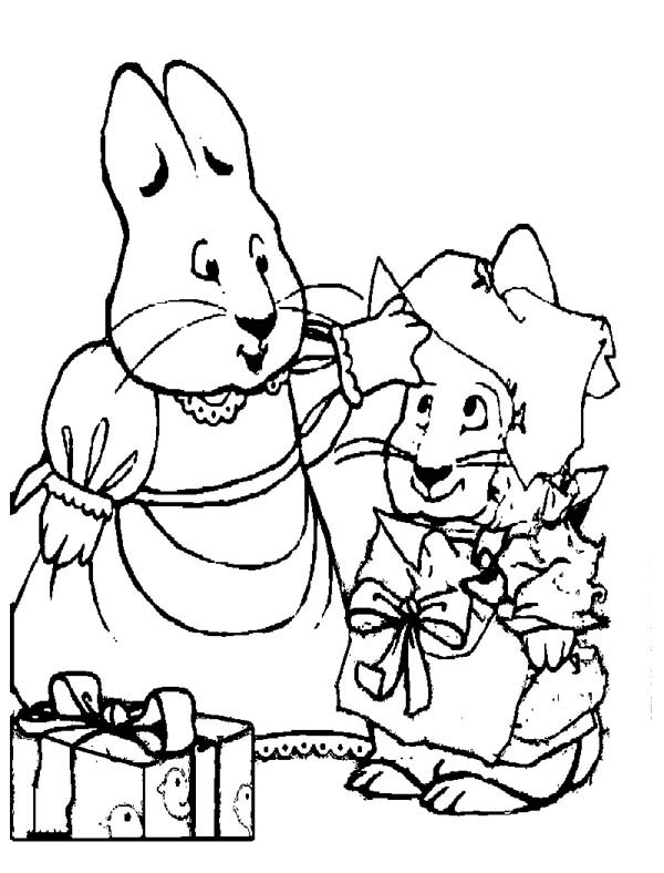 Max & Ruby, : Ruby Put Girls Outfit on Max in Max and Ruby Coloring Page