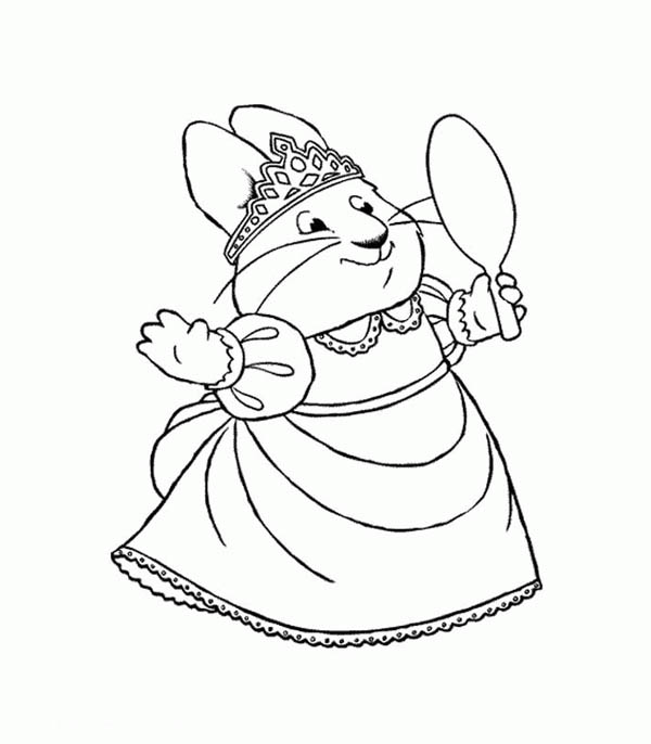 Max & Ruby, : Ruby Wear Beautiful Tiara in Max and Ruby Coloring Page