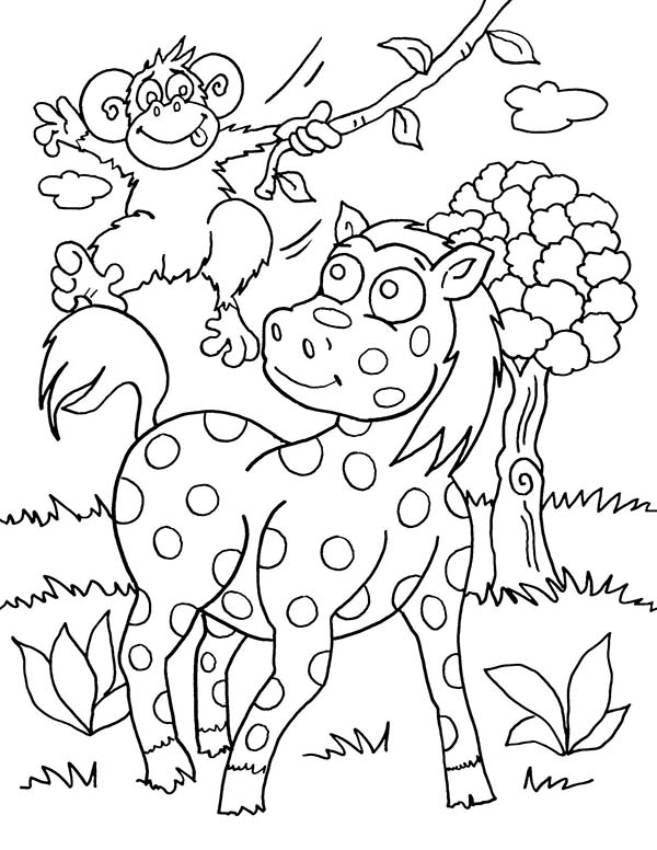Safari, : Safari with Chizzy Coloring Page