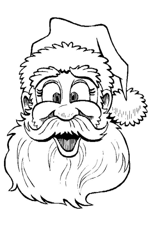 Silly Face, : Santa Silly Face Coloring Page