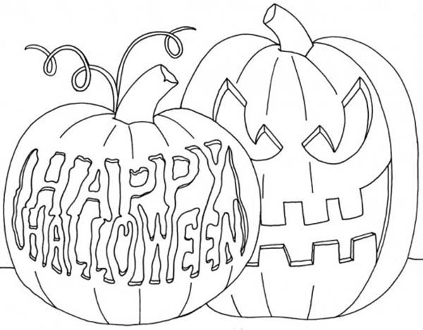 Scary Halloween Pumpkin Coloring Page