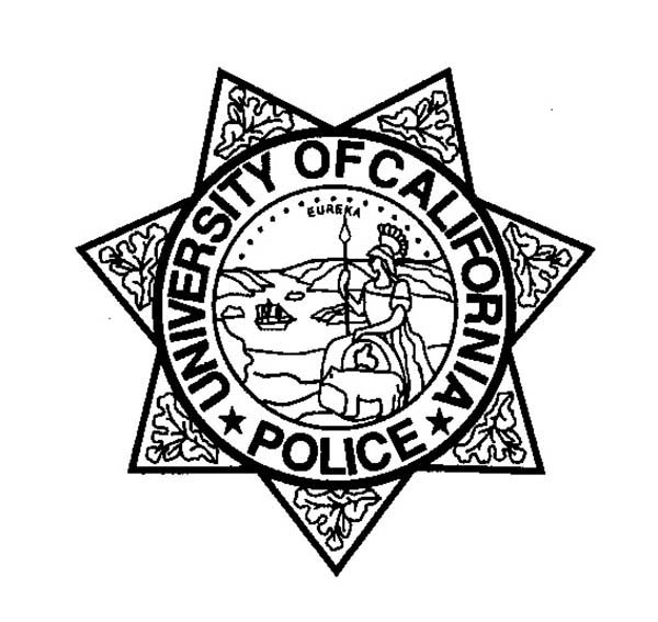 Police Badge, : Seven Point Stars Badge Coloring Page