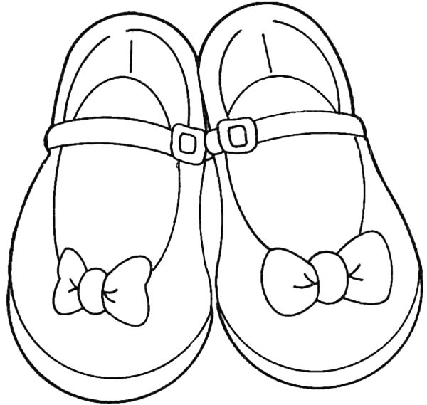 Shoes, : Shoes for Teenage Girl Coloring Page