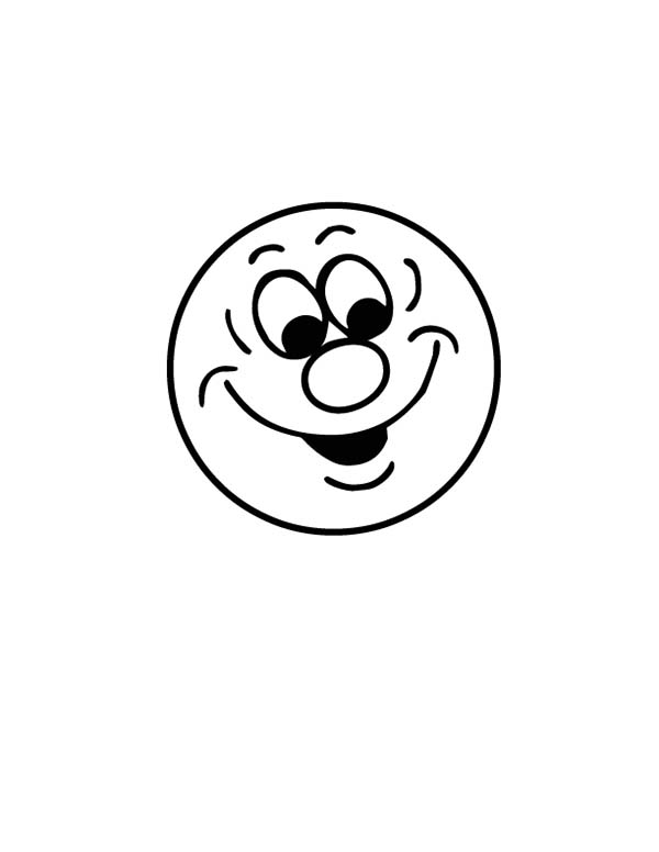 Silly Face, : Silly Face Emoticon Coloring Page