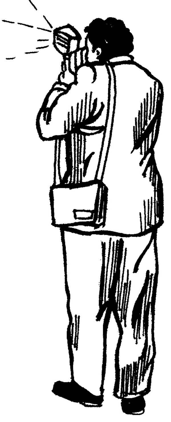 Photography, : Sketch of Photographer in Photography Coloring Page