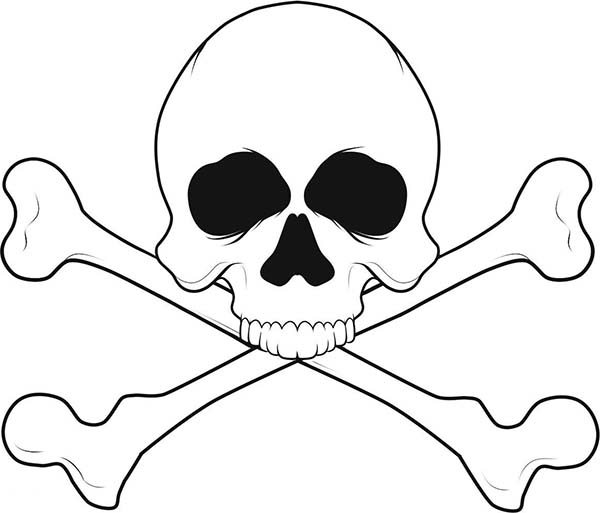 Skull, : Skull of Dead Man Coloring Page