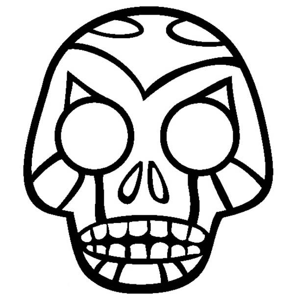 Skull, : Skull with Blood at His Eyes Coloring Page