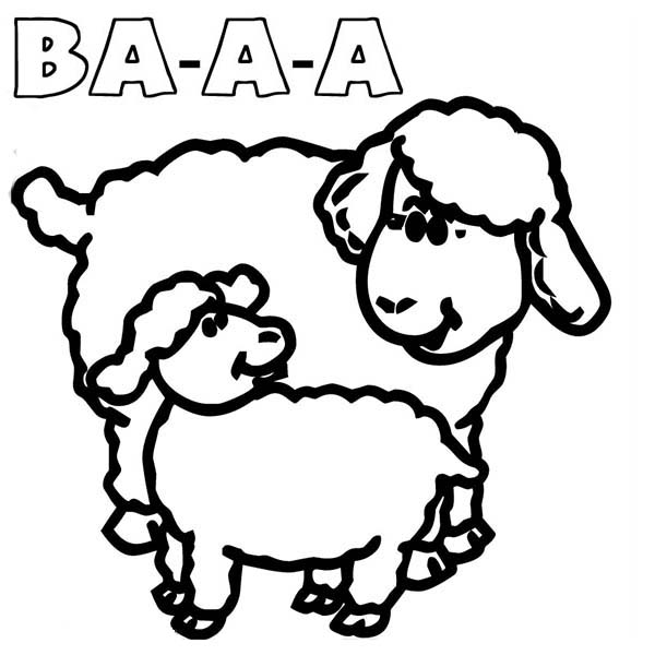 Sheep, : Sound of Sheep Coloring Page