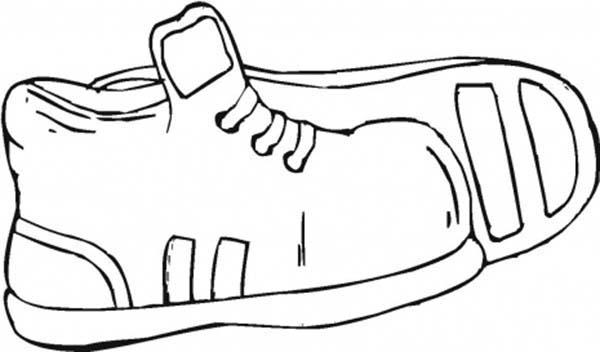 Shoes, : Sport Shoes Coloring Page