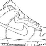 Awesome Pair Of Shoes Picture Coloring Page Coloring Sky