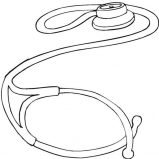 Stethoscope Medical Tool Coloring Page Coloring Sky
