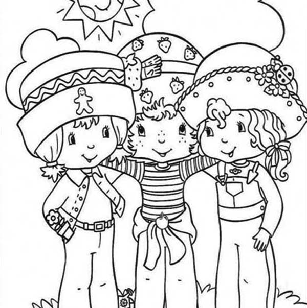 Strawberry Shortcake, : Strawberry Shortcake Always Helping Her Friends Coloring Page