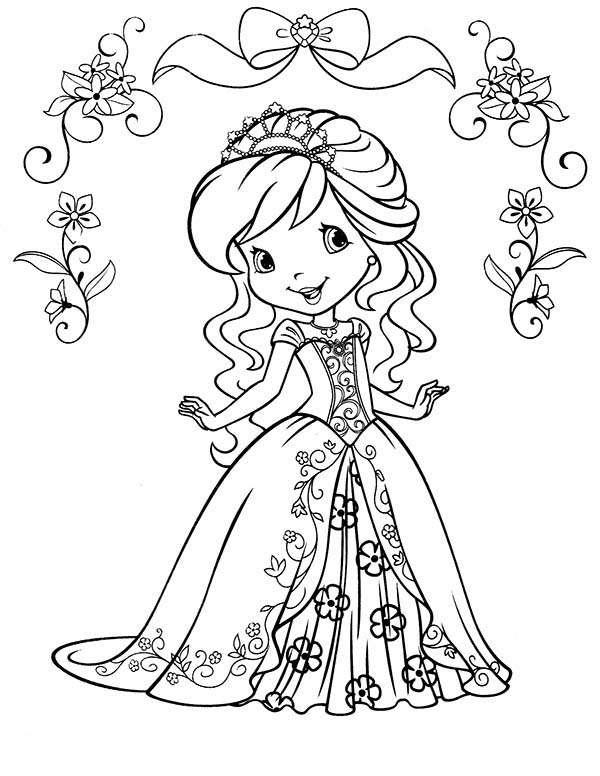 Kleurplaat Merida Strawberry Shortcake Beautiful Princess Of Strawberryland