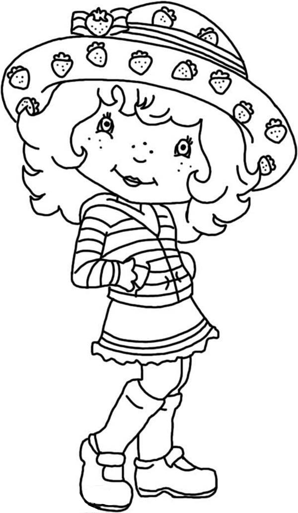 Strawberry Shortcake, : Strawberry Shortcake Fashion Model Coloring Page